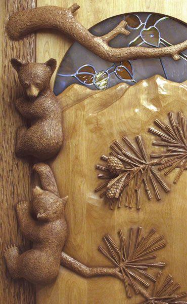 Carved By Ramsey Wood Doors Wildlife Carving