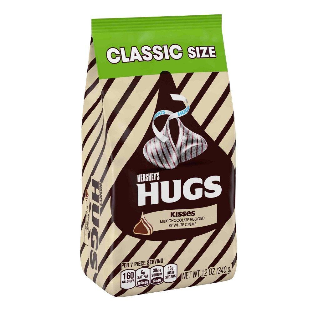 Hershey S Hugs Milk Chocolate Hugged By White Creme Classic Bag