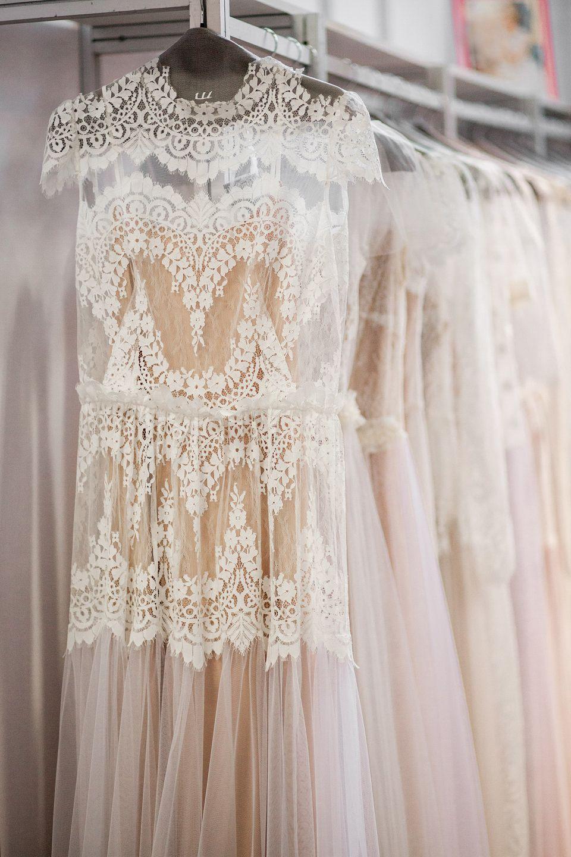 Antique cream wedding dress  Oh my the most stunning wedding dress Vintage lace Chiffon body