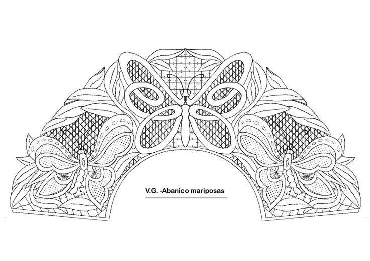 Resultado de imagen de abanicos de bolillos patrones | Bolillos ...