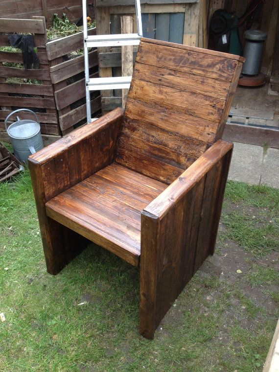 Garden Chair Made From Recycled Pallets Firm And Solid Can Be