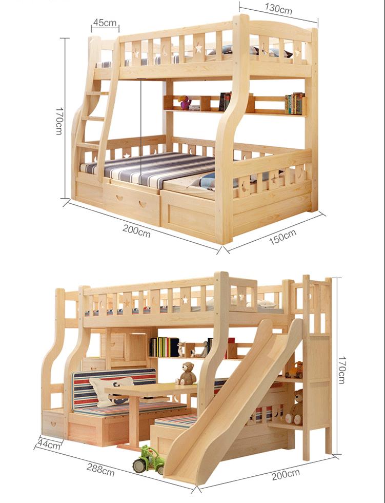 2017 nuevo dise o de madera ni os doble literas cama para for Literas de madera para ninos