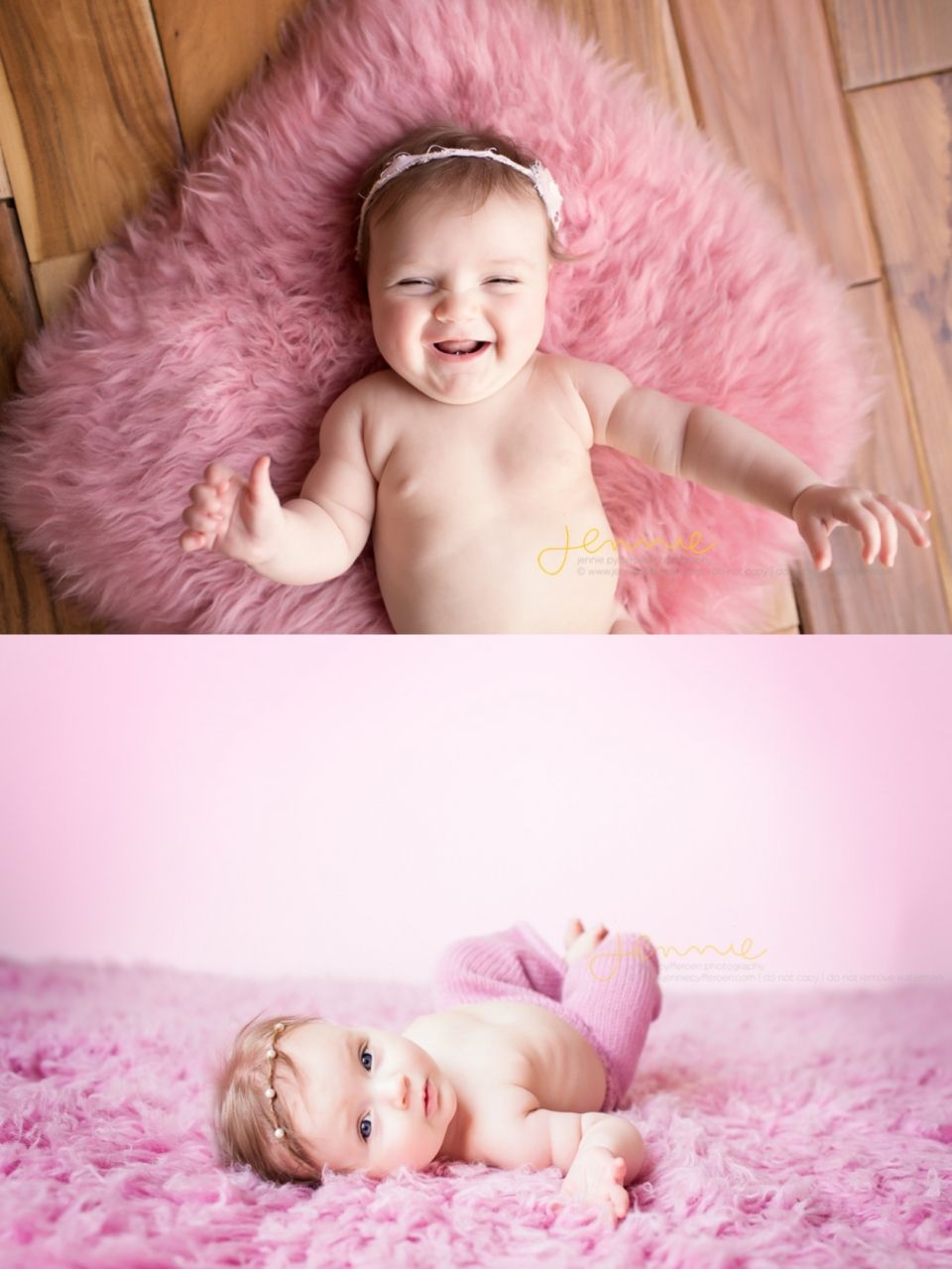 Baby's First year Milestone Nashville Tennessee 3 month old photography studio session