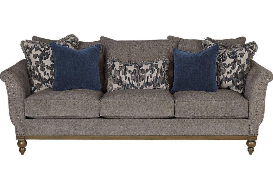 Best Cindy Crawford Home Chatham Place Slate Sofa Sofa 400 x 300