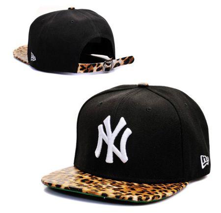 63fbb3e4c33a New York Yankees New Era Snapback Hats With Leopard Print Brim ...