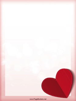A Folded Paper Heart Gives This Valentine S Day Page Border A 3d
