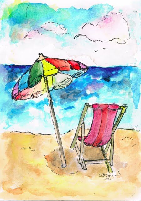 Water Colors Seashore Love This
