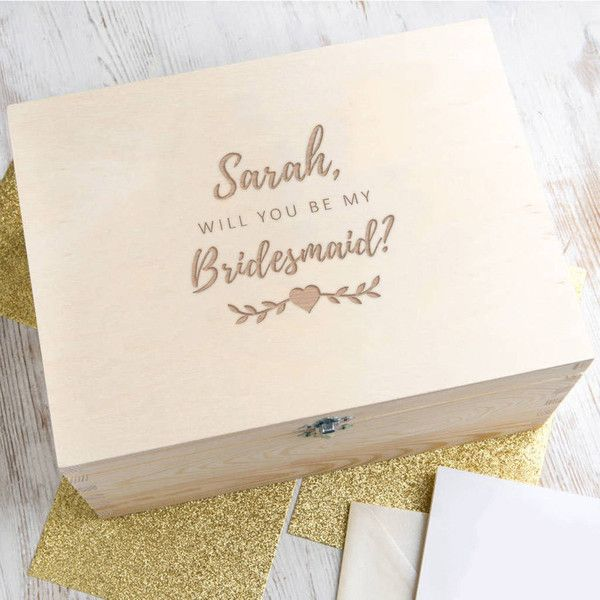 Dust and Things Personalised Will You Be My Bridesmaid Gift Wedding - best of sample letter of invitation to special event