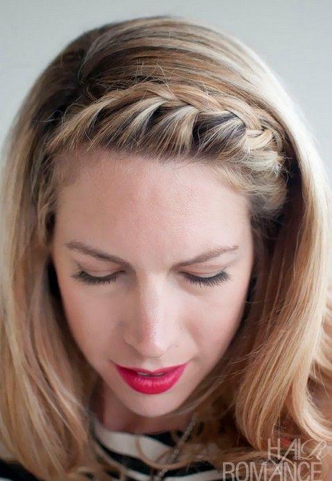 15 Braided Bangs Tutorials Cute Easy Hairstyles Pretty Designs Hair Romance Hair Styles Short Hair Styles