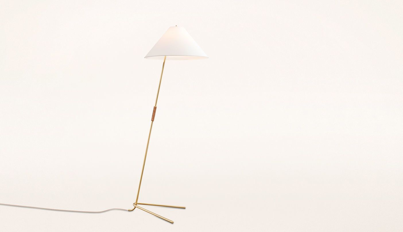 Jt kalmar hase bl brass and leather floor lamp boheme lighting jt kalmar hase bl brass and leather floor lamp aloadofball Image collections