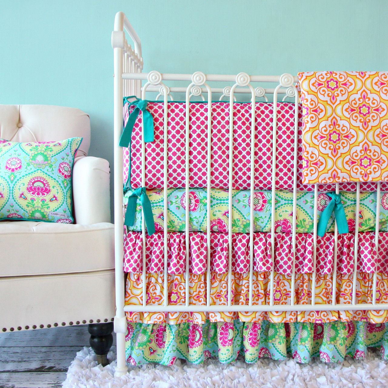 Caden Lane Baby Bedding Lily Pad Bedding Available In Big Girl