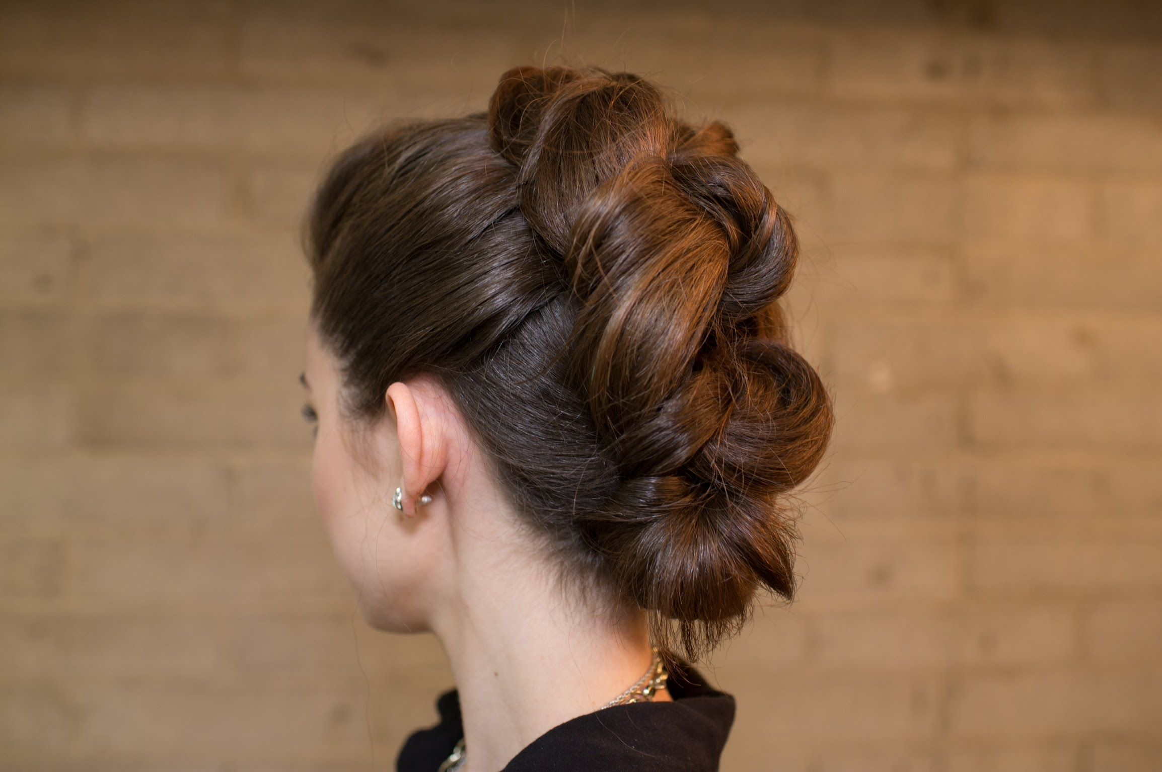 Easy knotted mohawk updo and literally takes only a few minutes