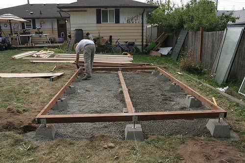 Build A 8x10 Shed Pic Example Build A 8x10 Shed Building Shed Foundation Building A Shed Base Shed Base Diy Shed Plans