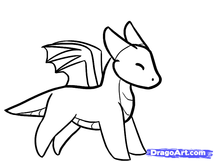 Drawing dragons easy images