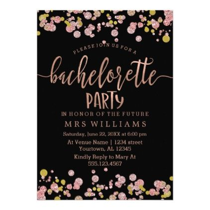 bachelorette #party #invitations - #Confetti Sparkle Bachelorette - bachelorette invitation template