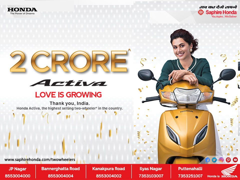 Thank You India For Making Honda Activa The Largest Selling Two