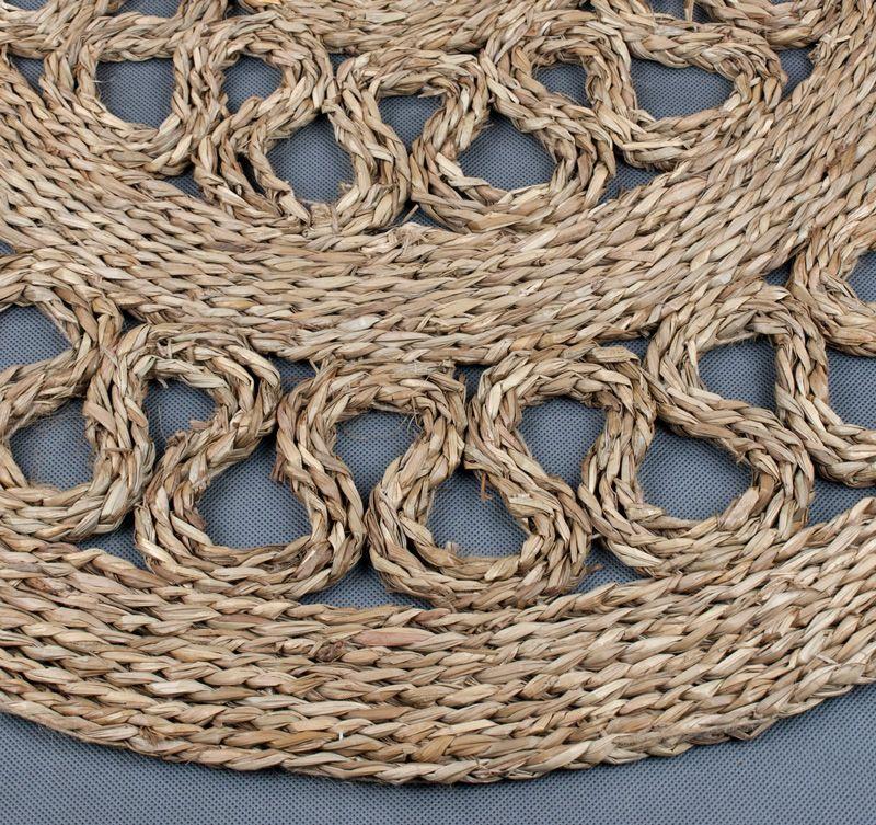 Okragla Mata Z Trawy Morskiej O120 Cm Azurowa 7132115893 Oficjalne Archiwum Allegro Decorative Wicker Basket Wicker Wicker Baskets