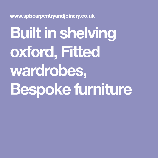Bespoke Under Stairs Shelving: Built In Shelving Oxford, Fitted Wardrobes, Bespoke