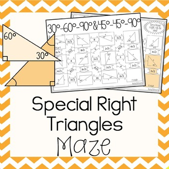 Special Right Triangles Maze Math High School