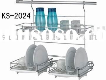 Hanging Over Sink Solution Cool 2 Layer Wall Hung Dish Rack House Furniture Design Dish Racks Kitchen Board