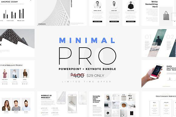 minimal pro presentations bundleslidepro on @creativemarket, Presentation templates