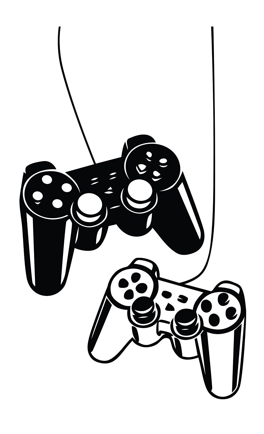 Playstation Controllers Gaming Joystick Wall Decal Home Decor Art