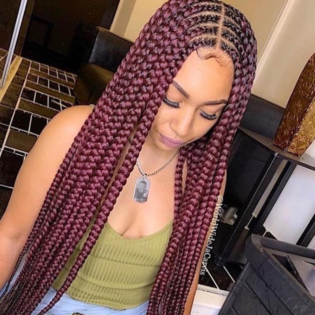Charismatic Hairstyles For Dark Ladies Box Braid Wig Braids Wig Braids With Weave