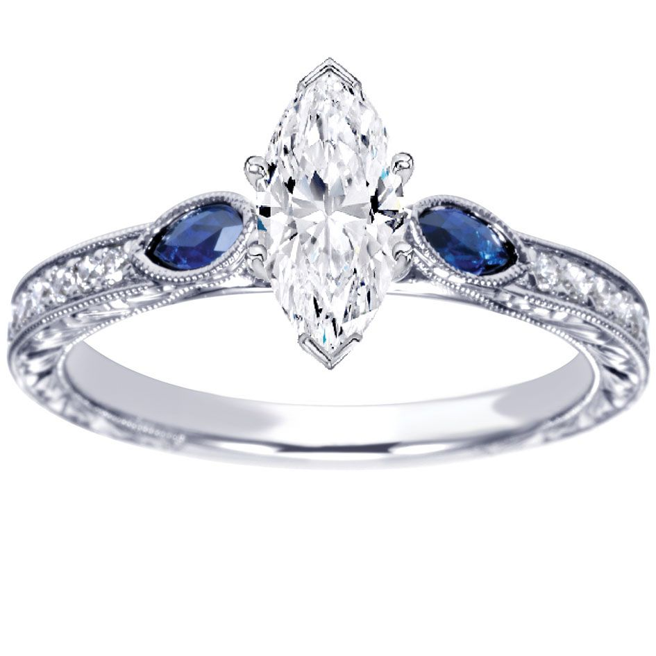 Pin By Amy Robertson On Marquise Diamond Engagement Rings Sapphire Engagement Ring Blue Blue Diamond Engagement Ring Blue Sapphire Rings