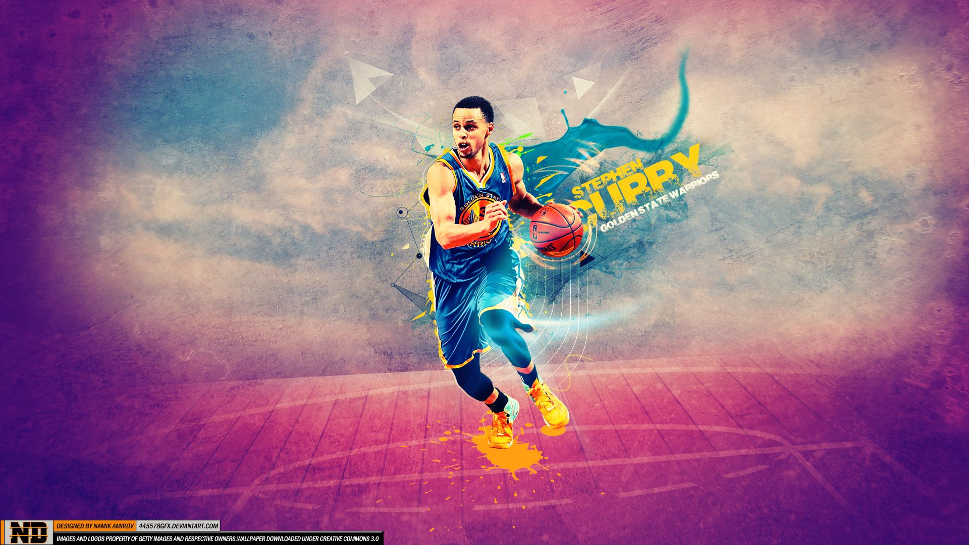 Stephen Curry Wallpaper DS07 Shooting Iphone Splash