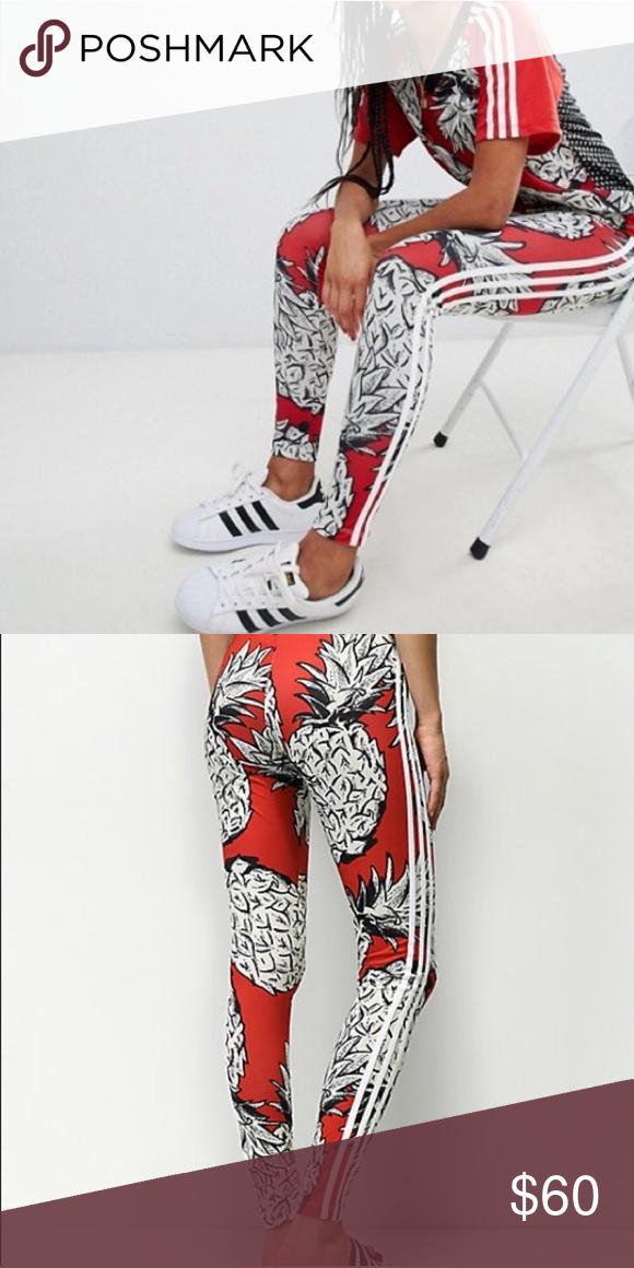 RARE Adidas originals x farm pineapple leggings Super cute