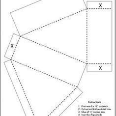 Triangle Cake Box Template