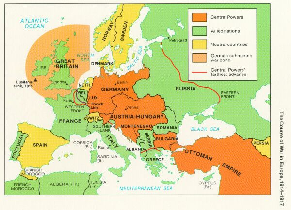 Geography Of Europe Map Of Europe To Home - Europe world war1 map 1914