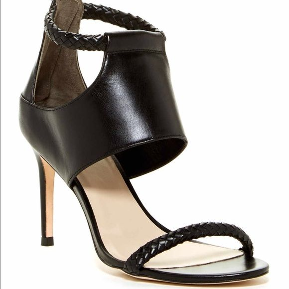 5.5b black leather heels sandals Fit more like 6 Cole Haan Shoes Heels