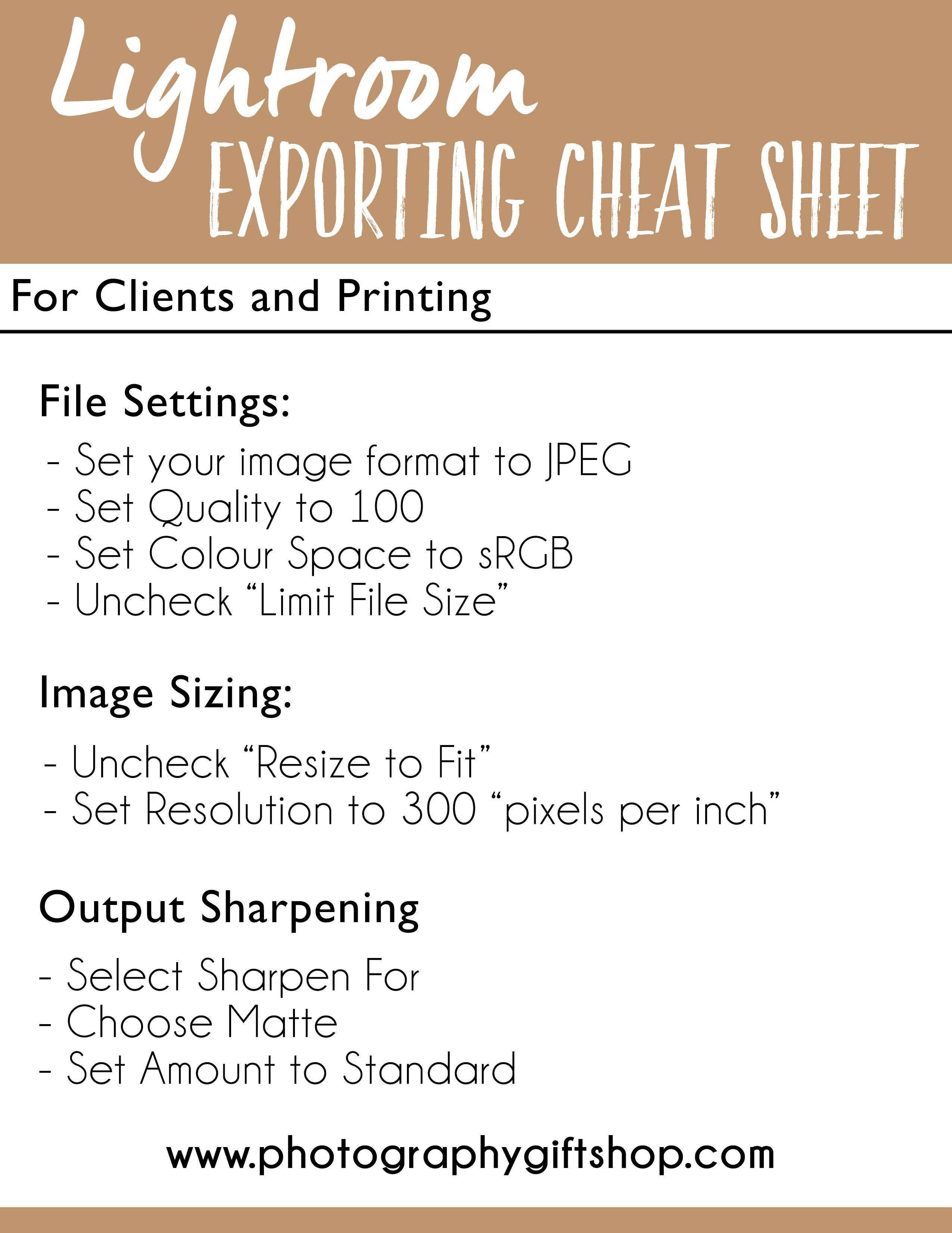 Exporting in lightroom
