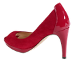 perfect red peep toe to pair with rolled denim