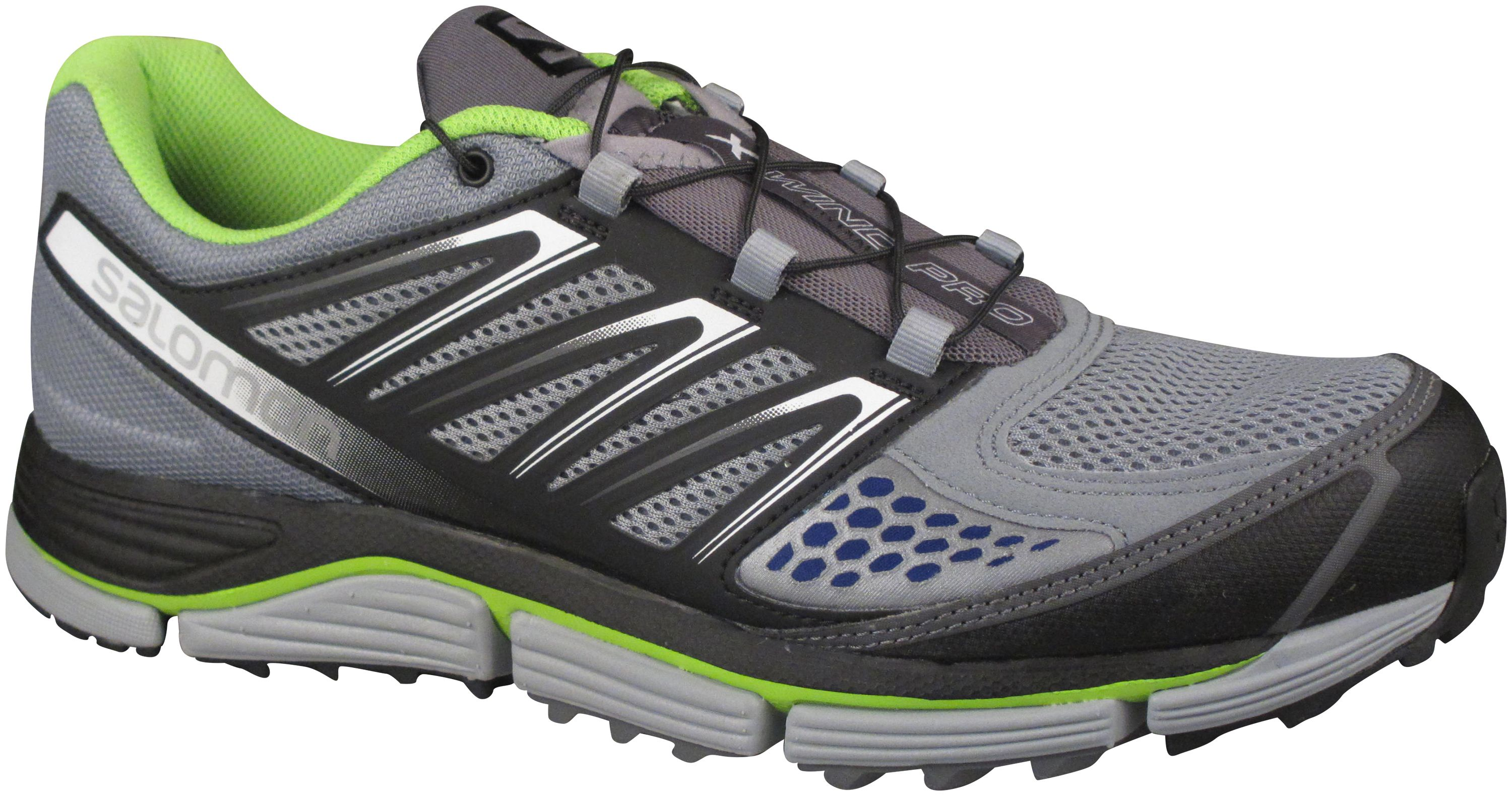 SALOMON XWind Pro in Pearl Grey/Black/Granny Green