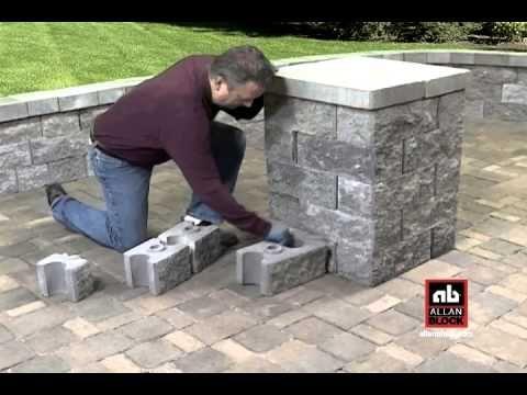 How To Build A Seating Wall Starting At Post Pillar Wall Seating Retaining Wall Block Paver Blocks