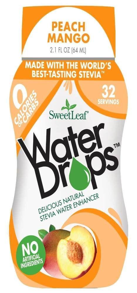 Sweetleaf Water Drops Liquid Stevia Peach Mango Flavor Drink Mix Enhancer Drops Sweetleaf Sweetleaf Water Drops
