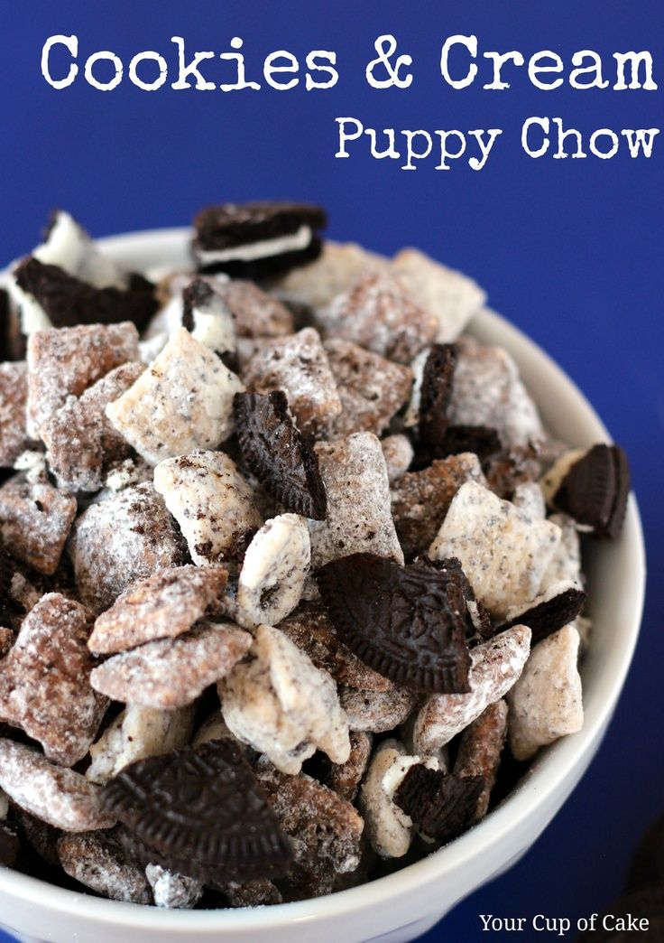 cookies and cream puppy chow. Dessert recipes
