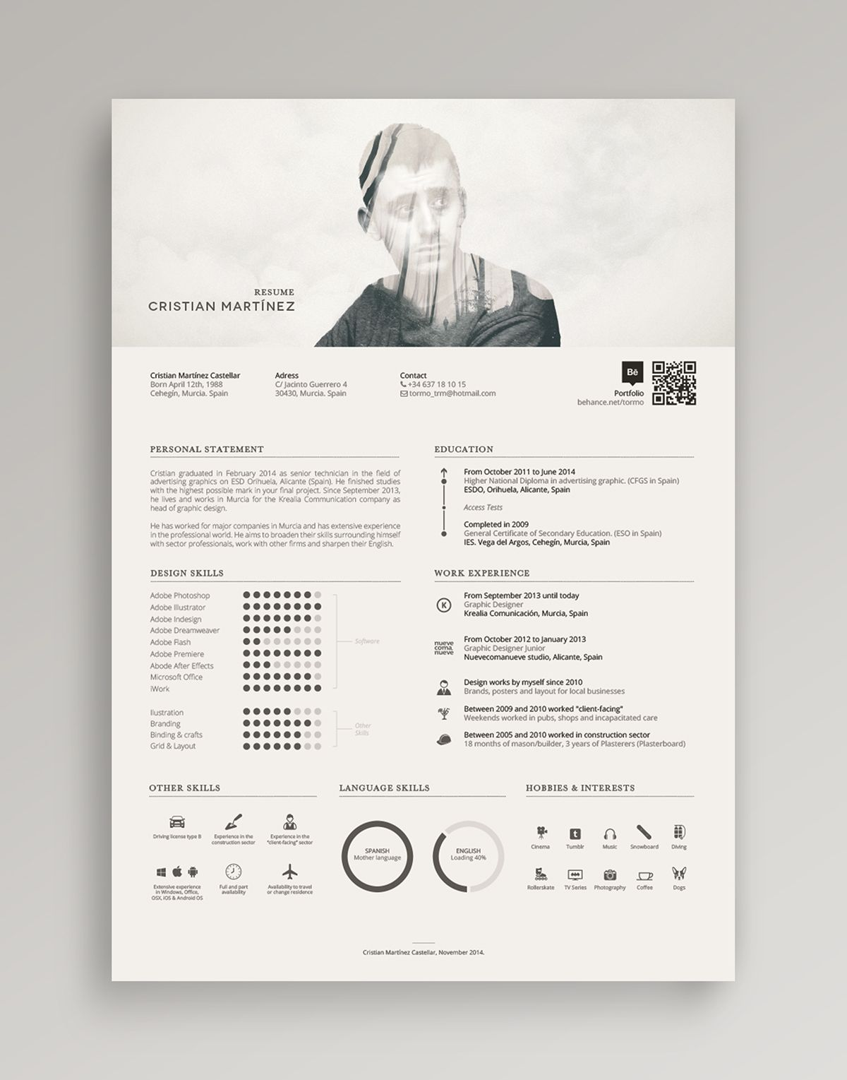 11 Drool-Worthy Self Promotion Designs & Resumes | Póster