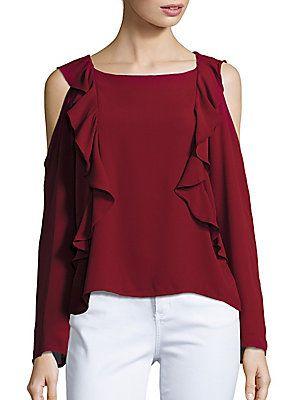 8e2cca870c8fb Saks Fifth Avenue Tristian Cold-Shoulder Blouse - B