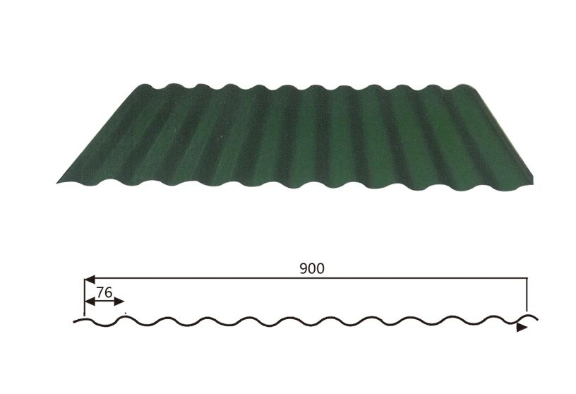 Corrugated Steel Roofing Sheet Wave Style 17 76 900 Techo