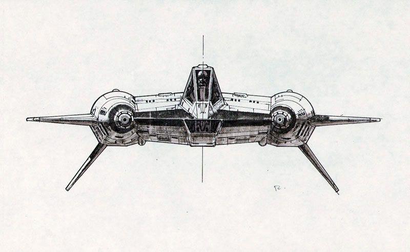 Ralph McQuarrie´s previsualization works on Battlestar Galactica.
