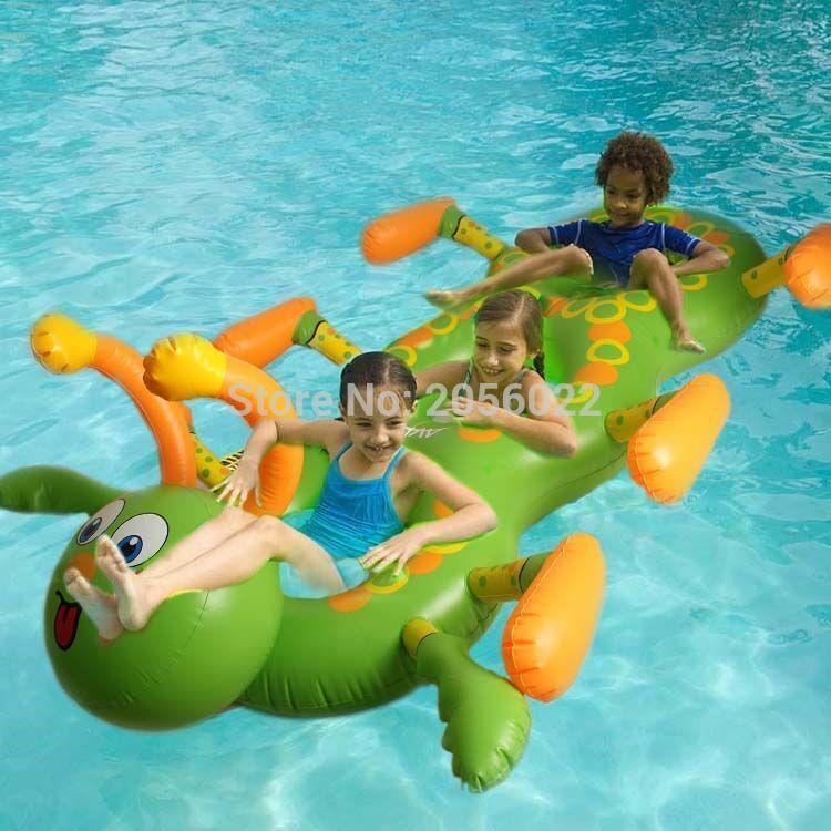 Juguete Inflable Para Piscina Diseño Gusano Diseños De Piscina Flotadores Piscina Flotando En El Agua