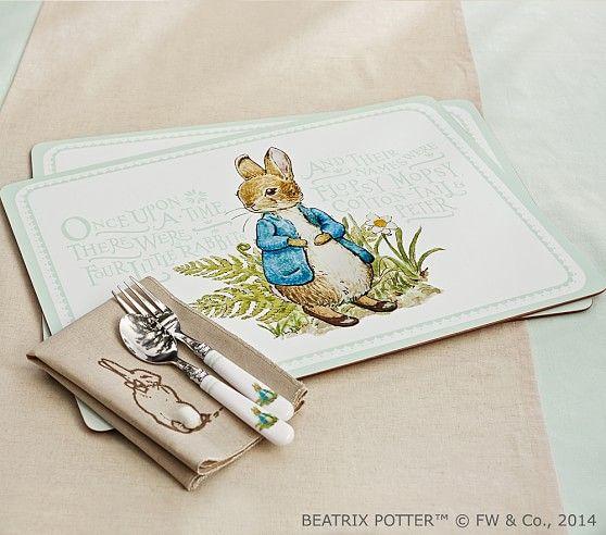 Peter Rabbit Easter Placemat Set Pottery Barn Kids