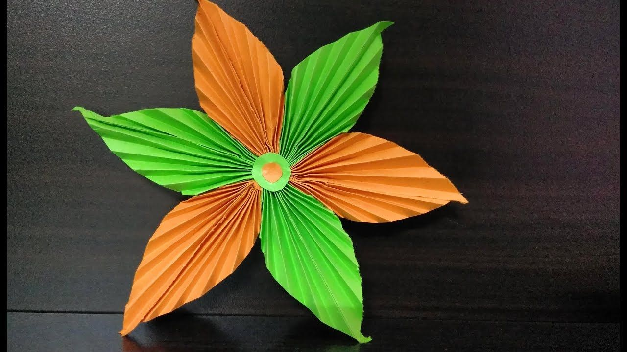 Origami Easy Flower Making With Paper Diy Crafts With Paper