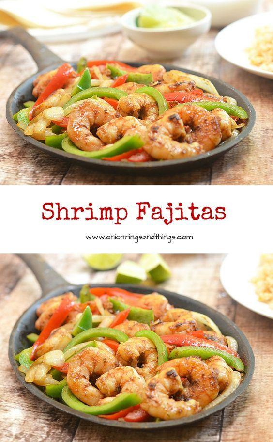 Shrimp Fajitas #shrimpfajitas