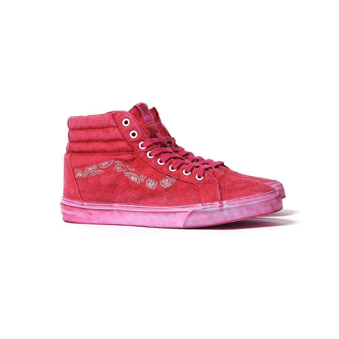 cc4caea80f33b4 Repost  Vans Sk8-Hi (Overwash Red Paisley) now available in store ...