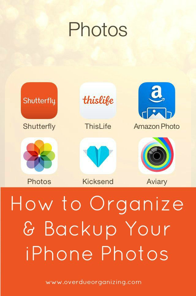 How to Organize & Backup Your iPhone Photos, Part 1: Shutterfly {OverdueOrganizing.com}