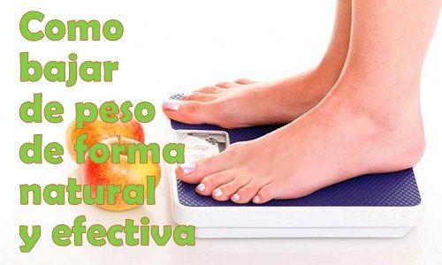 como bajar de peso de forma efectiva